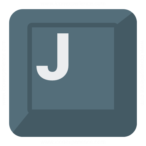 Iconexperience G Collection Keyboard Key J Icon