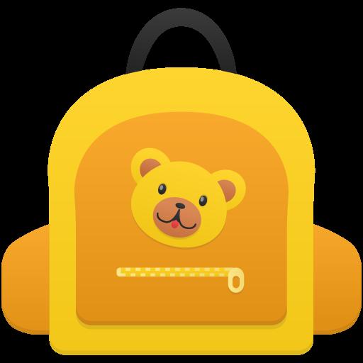 Schoolbag Girl Icon Flatastic Iconset Custom Icon Design