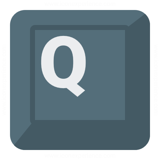 Iconexperience G Collection Keyboard Key Q Icon