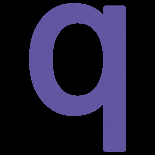 Simple Purple Alphanumerics Lowercase Letter Q Icon