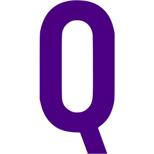 Indigo Letter Q Icon