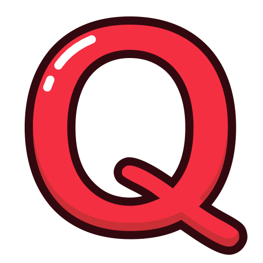 Letter, Red, Alphabet, Q, Letters Icon