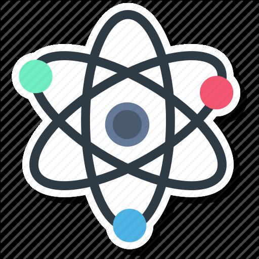Atom, Molecule, Outline, Physics, Quantum Icon
