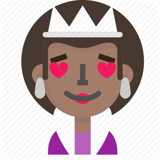 Costume, Emoji, Female, Halloween, Love, Queen Icon