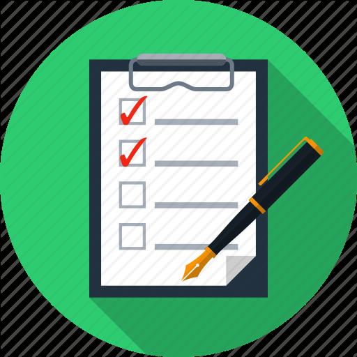 Choices, Holder, Pad, Paper, Pen, Questionnaire, Survey Icon