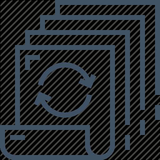 Batch, Document, File, Management, Paper, Processing, Queue Icon