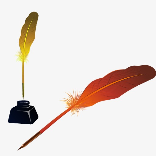 Quill, Two Quill, Pen Png Image And Clipart For Free Download