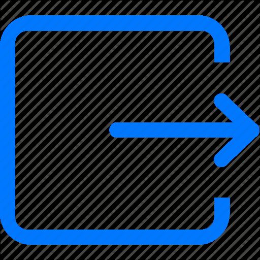 Arrow, Door, Exit, Leave, Logout, Out, Quit Icon