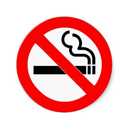 International Official Symbol No Smoking Sign Classic Round