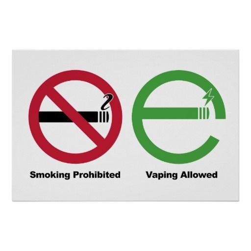 Smoking Prohibited Vaping Allowed Print Vape Posters