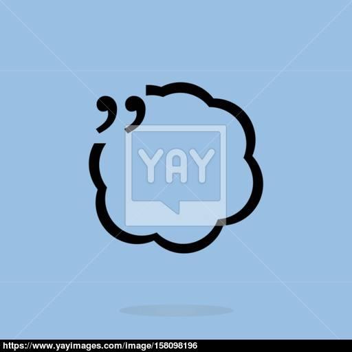 Vector Quotation Mark Speech Bubble Vector Quote Sign Icon Vector
