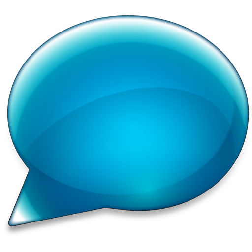 Blue Chat Bubble Icon Download Free Icons