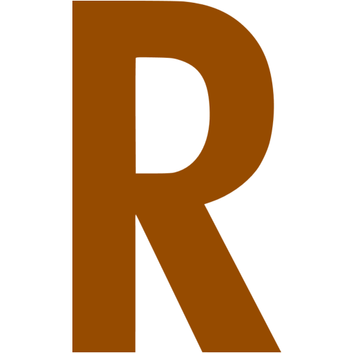 Brown Letter R Icon