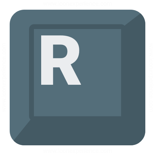 Iconexperience G Collection Keyboard Key R Icon