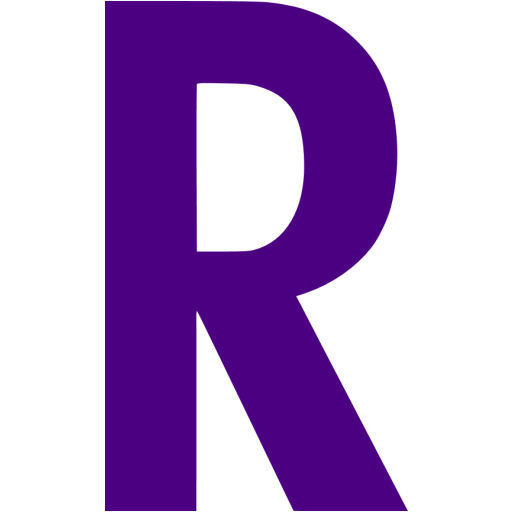Indigo Letter R Icon