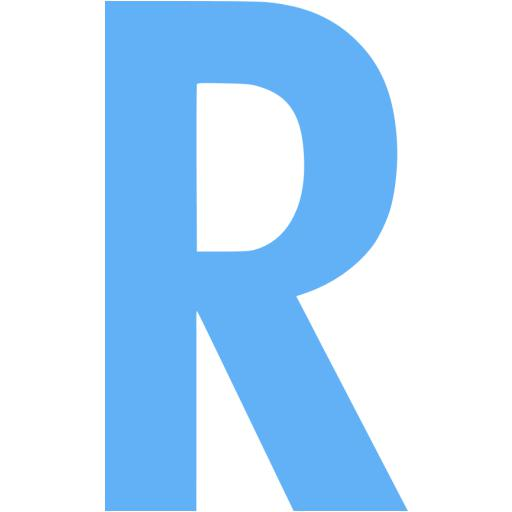 Tropical Blue Letter R Icon