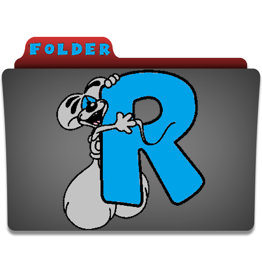 Folder Icon Diddl Leter R Icon