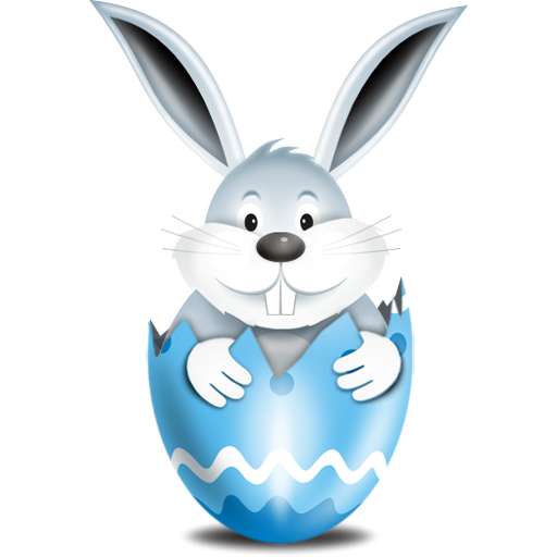 Bunny In Blue Egg Icon, Comes