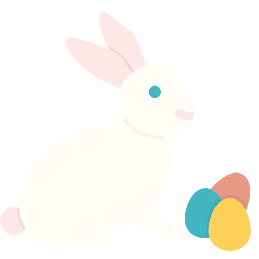Easter, Eggs, Paschal, Play, Bunny, Rabbit Icon