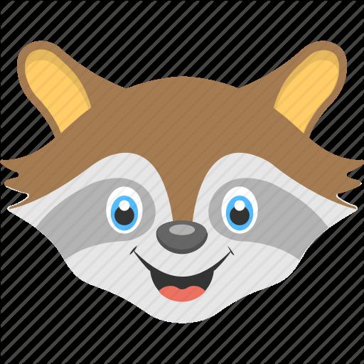 Animal Face, Baby Raccoon, Baby Raccoon Face, Brown Raccoon, Brown