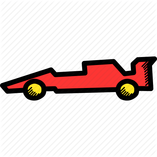 Car, Formula, One, Race, Racing Icon