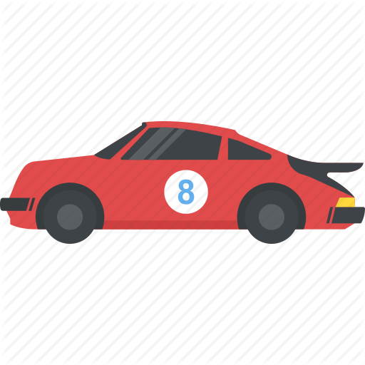 Car, Fast Car, Racing Car, Red Racing Car, Sports Car Icon