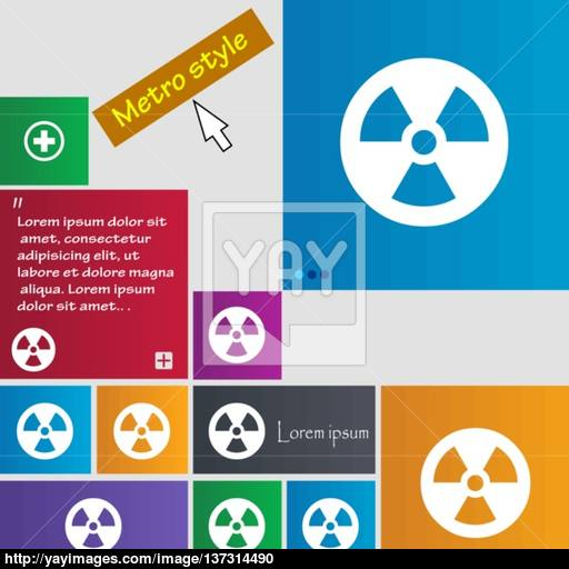 Radiation Icon Sign Buttons Modern Interface Website Buttons