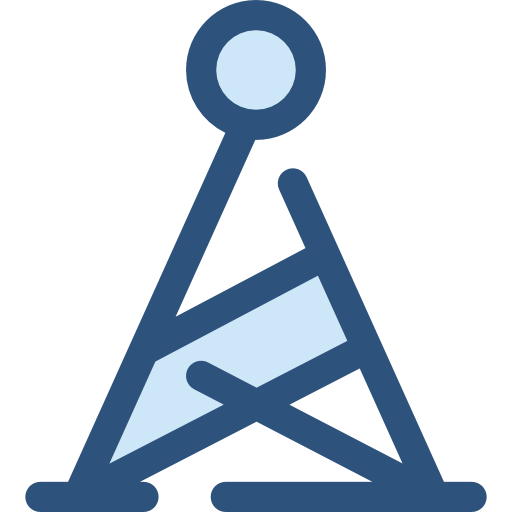 Antenna, Transmission, Tower, Radio, Buildings, Wireless, Signal Icon