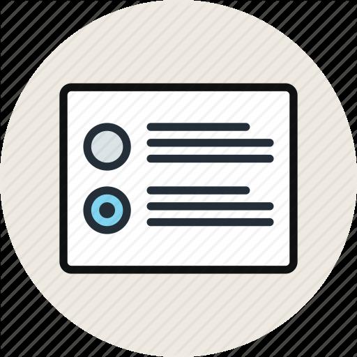 Grid, Layout, List, Radiobutton, Wireframe Icon