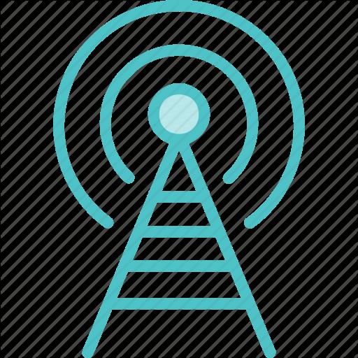 Broadcast, Radio, Tower Icon