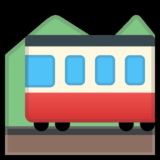 Mountain, Railway Icon Free Of Noto Emoji Travel Places Icons