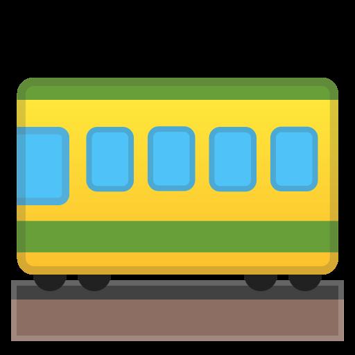 Railway Car Icon Noto Emoji Travel Places Iconset Google
