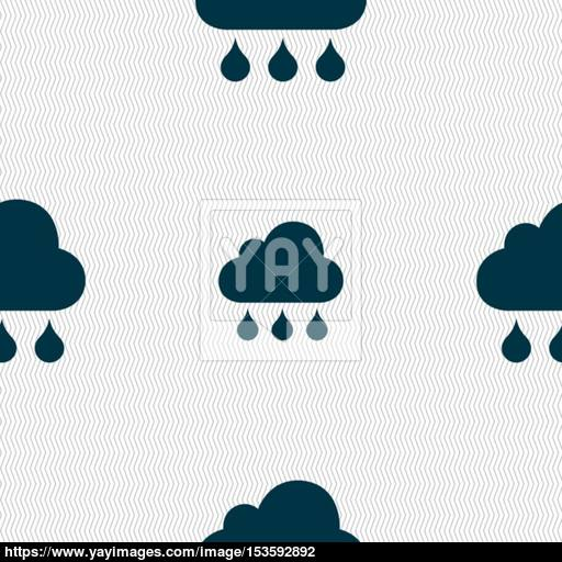 Cloud Ran Sign Seamless Pattern With Geometric Texture