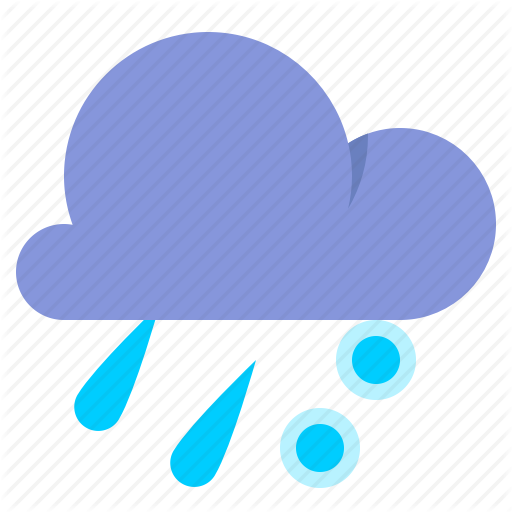 Cloud, Freezing Rain, Rain, Weather Icon