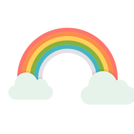 Rainbow, Sun, Cloud, Colorful, Vibrant, Spring Icon Free