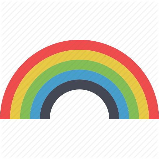 Colored, Colorful, Fantasy, Playful, Rainbow, Sky Rainbow Icon