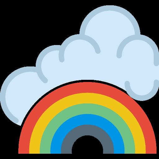 Rainbow, Rainbow Lines, Curve Lines, Concave Lines, Rainbows