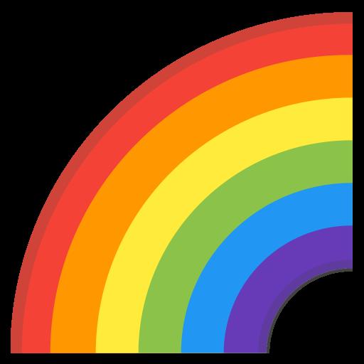 Rainbow Icon Noto Emoji Travel Places Iconset Google