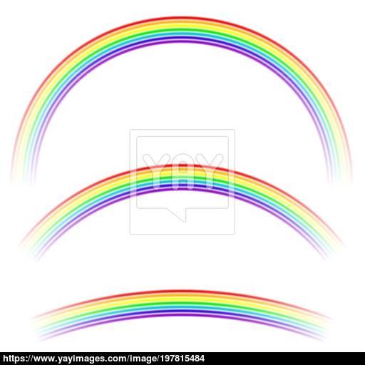 Rainbow Icon Isolated Vector