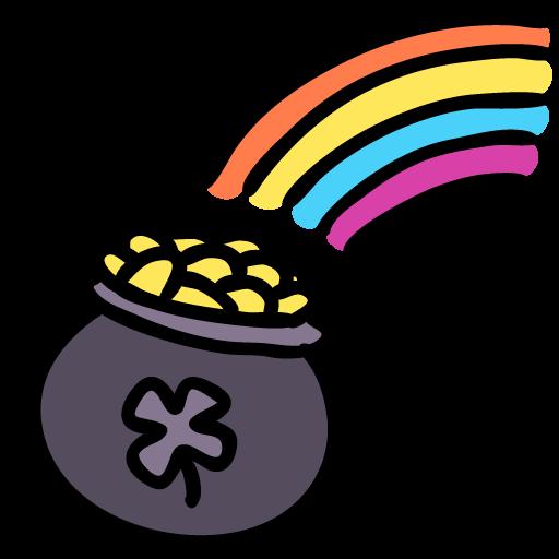 Rainbow Pot Icon Lucky Leprechaun Iconset
