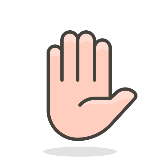 Raised, Hand Icon Free Of Free Vector Emoji