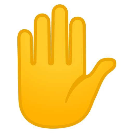 Raised Hand Icon Noto Emoji People Bodyparts Iconset Google