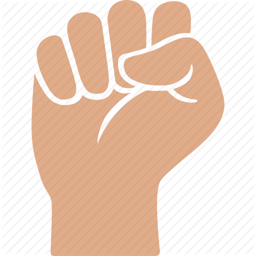 Fist, Hand, Power, Solidarity, Strength, Victory, White Icon