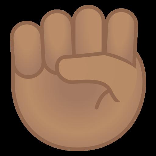 Raised Fist Medium Skin Tone Icon Noto Emoji People Bodyparts