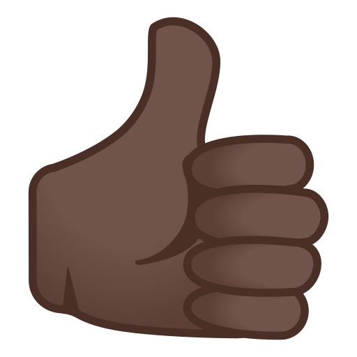 Thumbs Up Emoji With Dark Skin Tone Meaning And Pictures