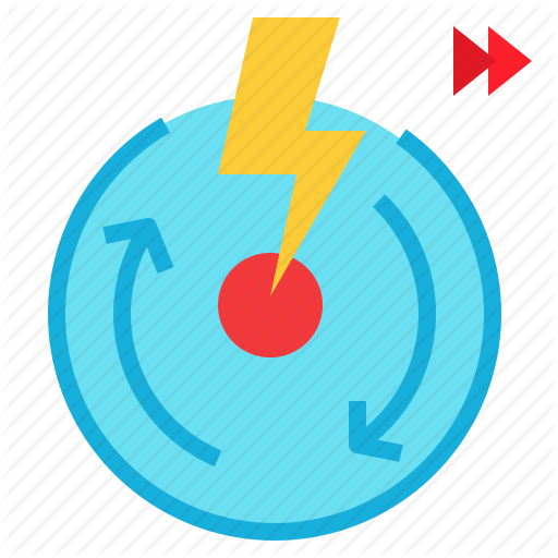 Quick, Rapid, Rapidly, Speed, Spin, Thunder Icon