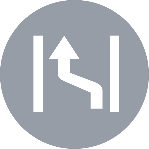Rapid Lane Change, Lane, Road Icon Png And Vector For Free