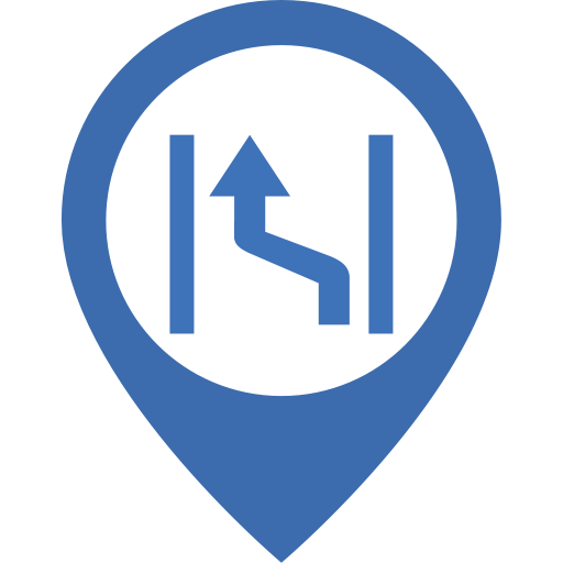 Rapid Lane Change, Lane, Road Icon With Png And Vector Format