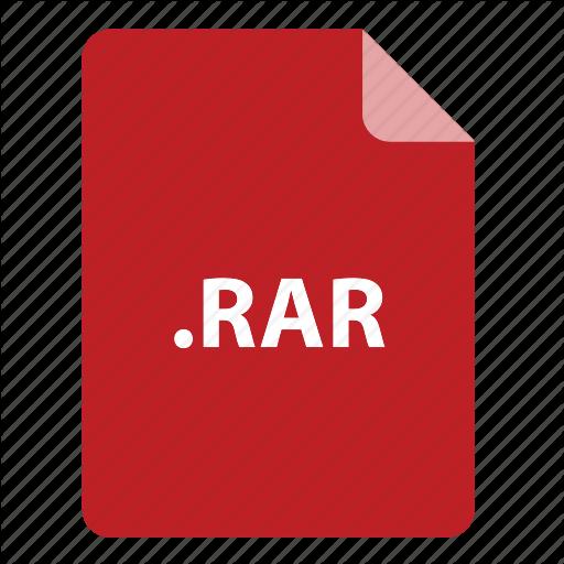, Extension, Format, Type, Rar Icon