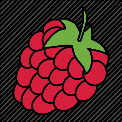 Berry, Bio, Food, Fruit, Raspberry, Vegan Icon
